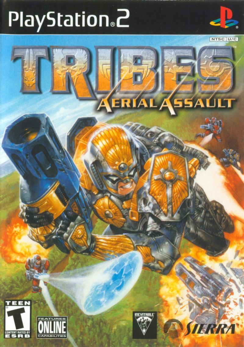 Tribes: Aerial Assault PlayStation 2 Front Cover
