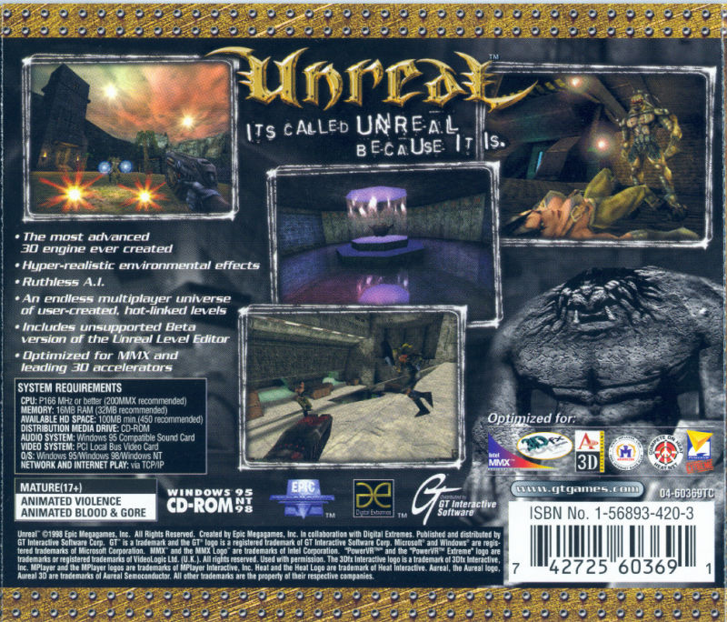 Unreal Windows Other Jewel Case - Back