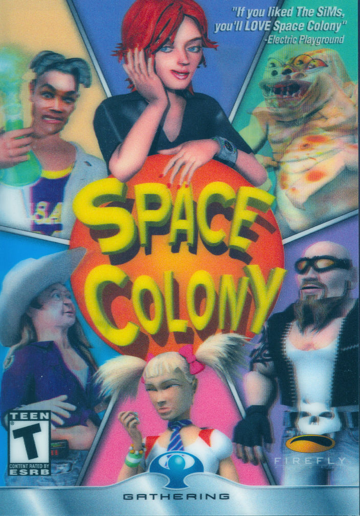 Space Colony Windows Front Cover Lenticular which creates autostereoscopy