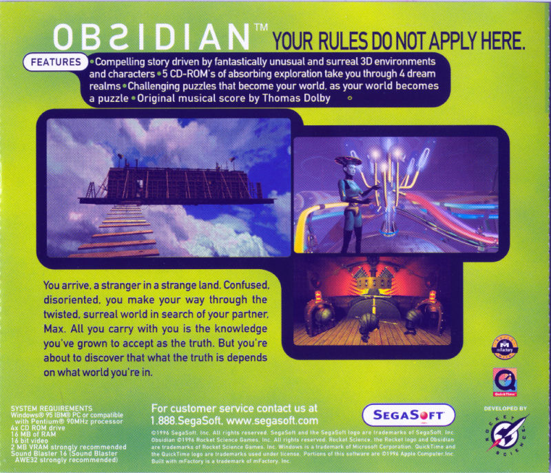 Obsidian Windows Other Jewel Case - Back