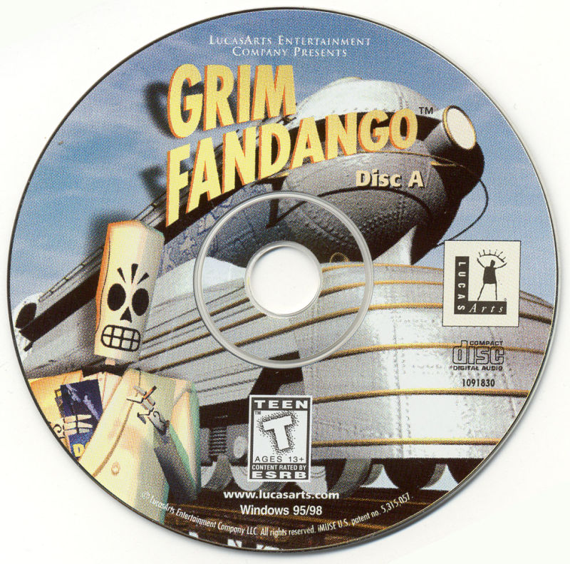 Grim Fandango Windows Media Disc 1