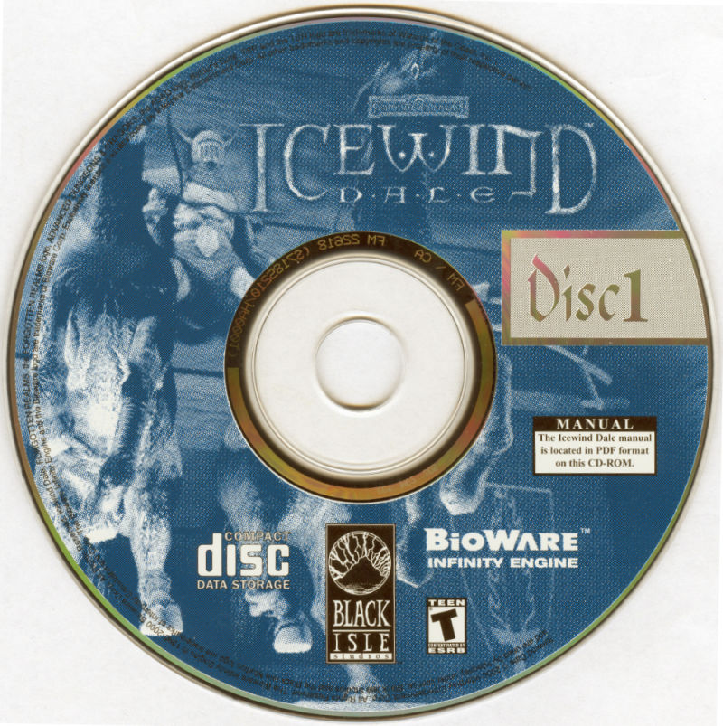 Icewind Dale: The Ultimate Collection Windows Media Icewind Dale Disc 1