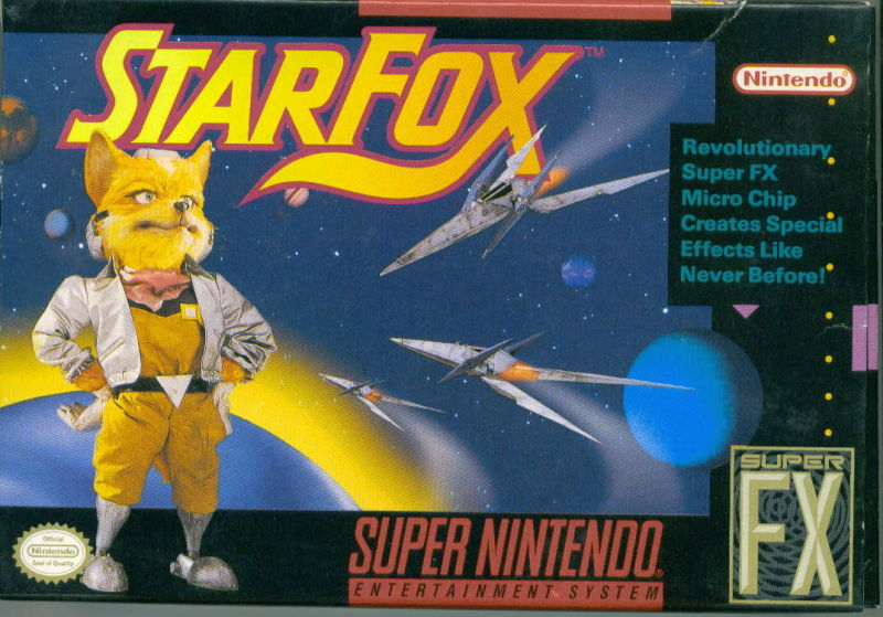 Star Fox SNES Front Cover