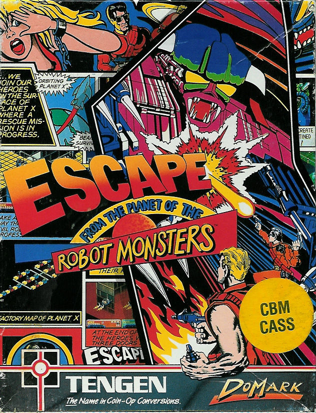 Escape from the Planet of the Robot Monsters Commodore 64 Front Cover