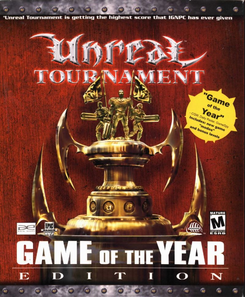 Unreal Tournament: Game of the Year Edition Windows Front Cover