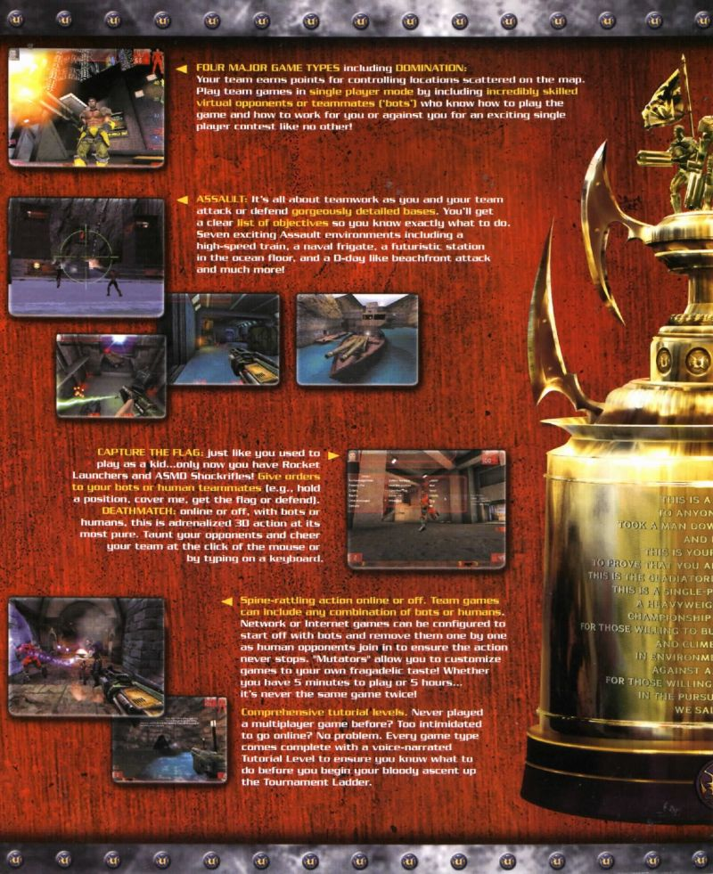 Unreal Tournament: Game of the Year Edition Windows Inside Cover Left Flap