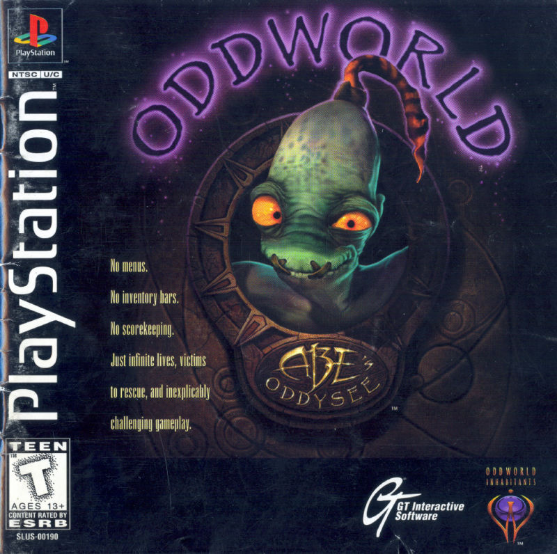 Oddworld: Abe's Oddysee PlayStation Front Cover