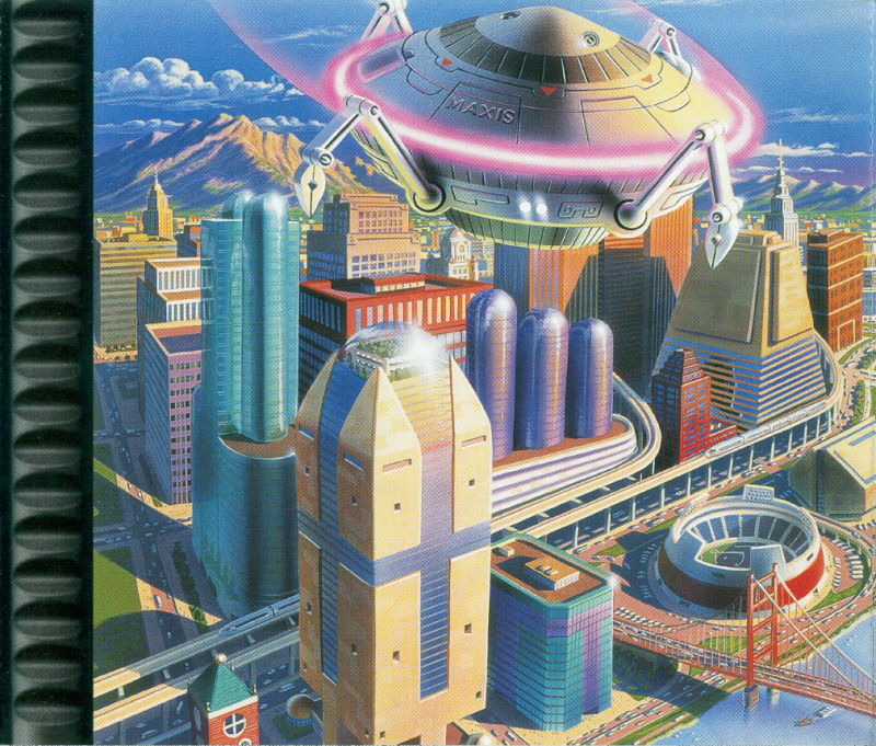 SimCity 2000 PlayStation Inside Cover Right Inlay