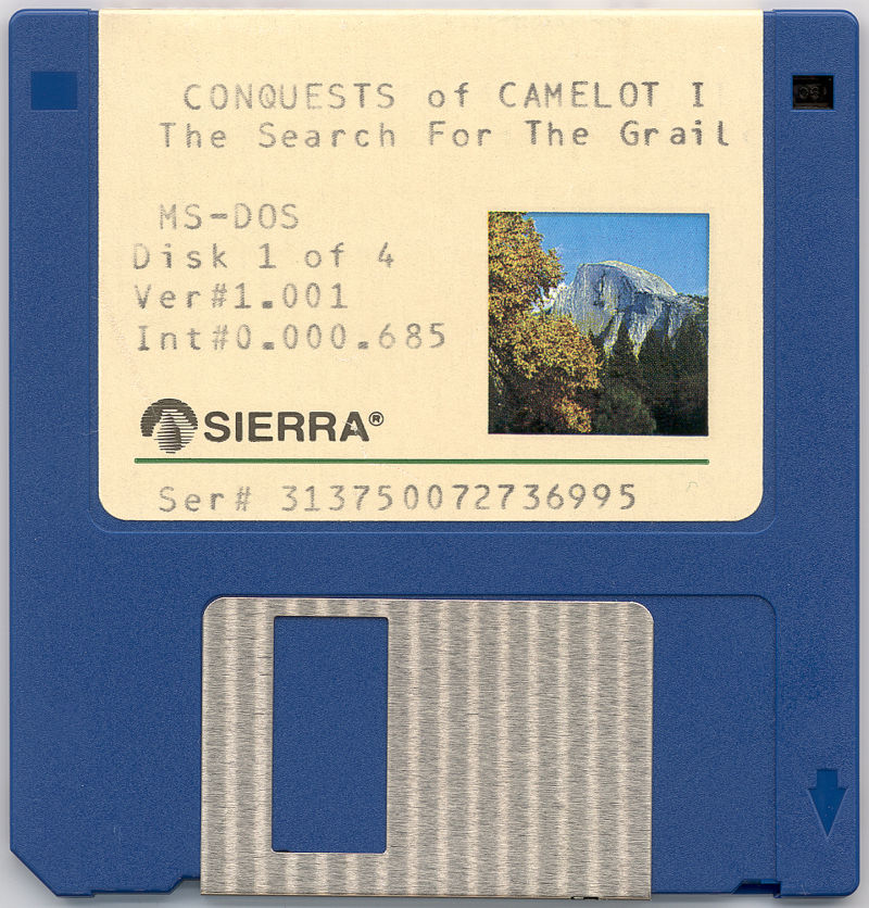 Conquests of Camelot: The Search for the Grail DOS Media Disk 1/4