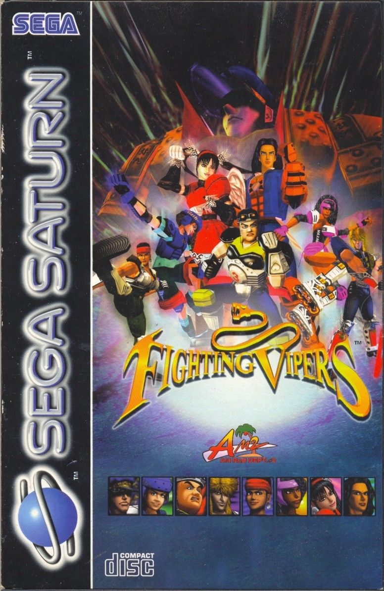Fighting Vipers SEGA Saturn Front Cover