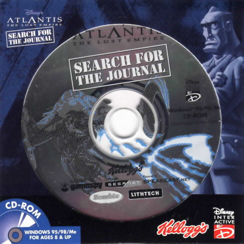 Disney's Atlantis: The Lost Empire - Search for the Journal Windows Front Cover