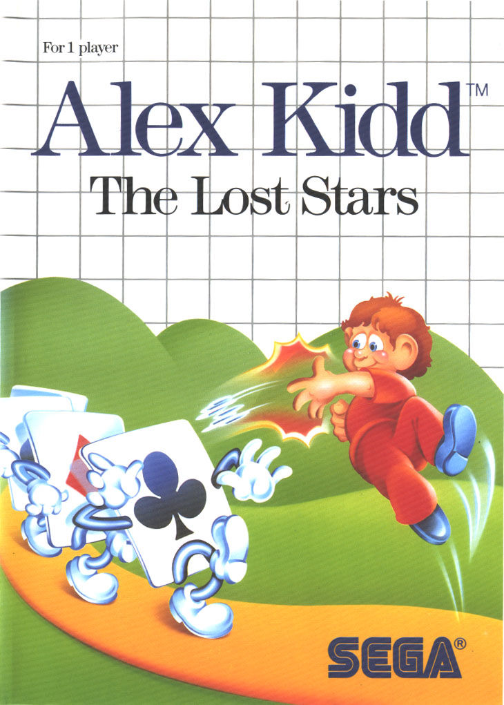 Alex Kidd: The Lost Stars SEGA Master System Front Cover
