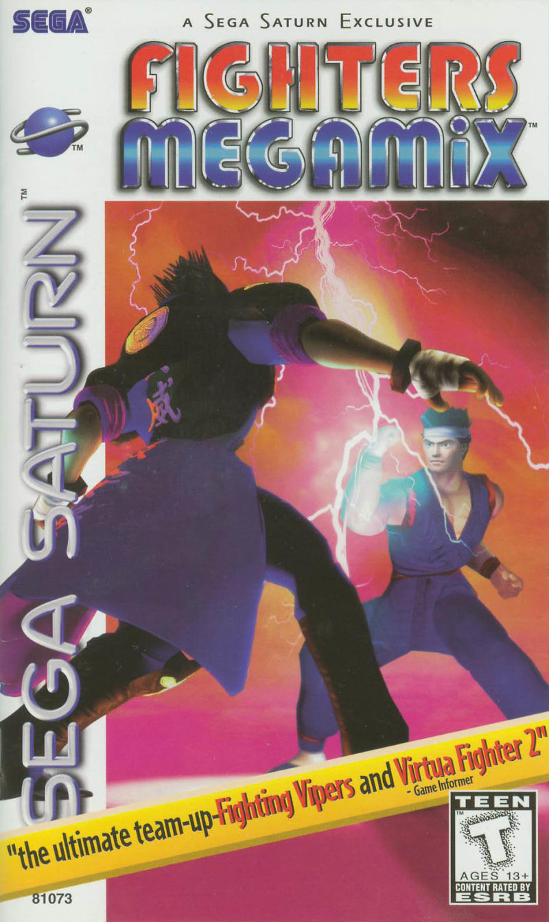 Fighters Megamix SEGA Saturn Front Cover