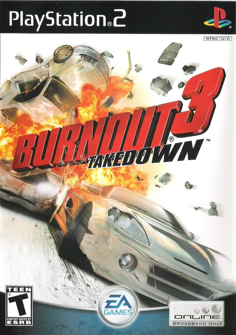 Burnout 3: Takedown PlayStation 2 Front Cover