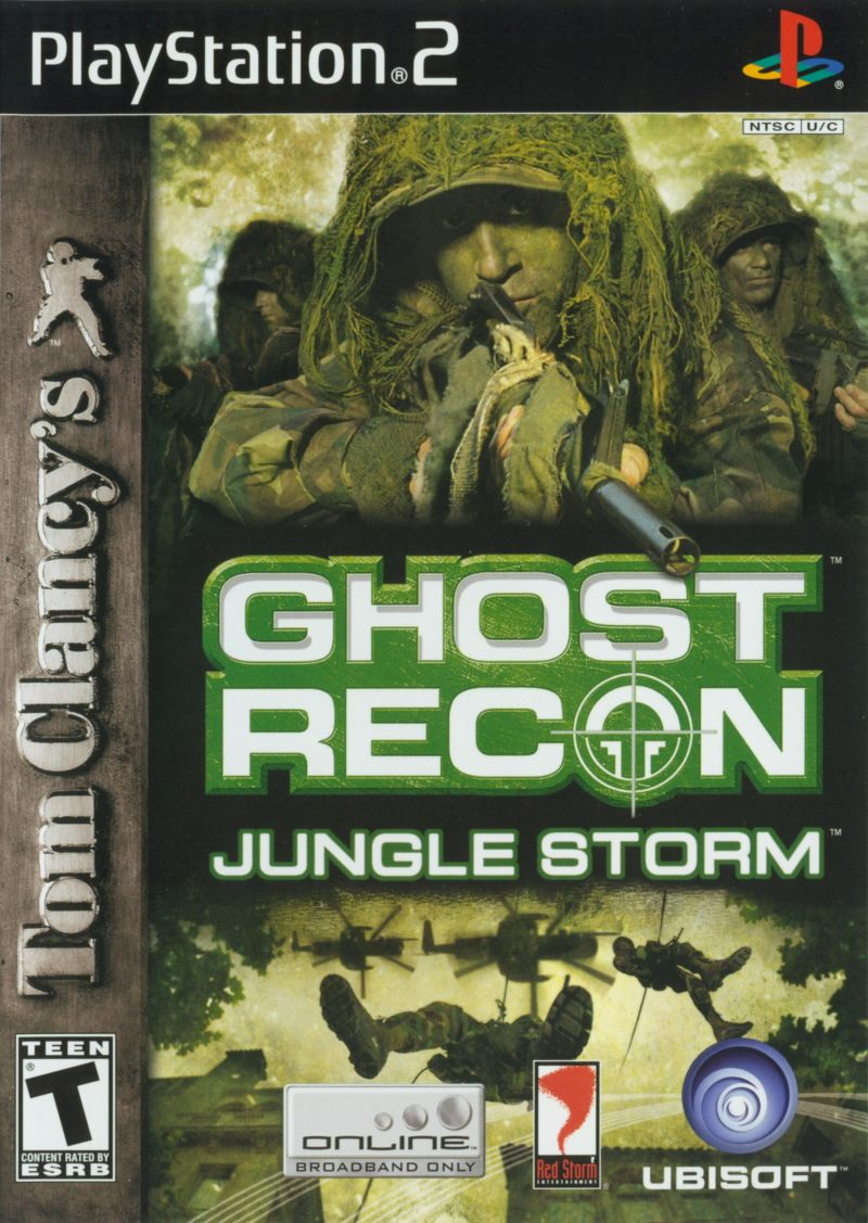 Tom Clancy's Ghost Recon: Jungle Storm PlayStation 2 Front Cover