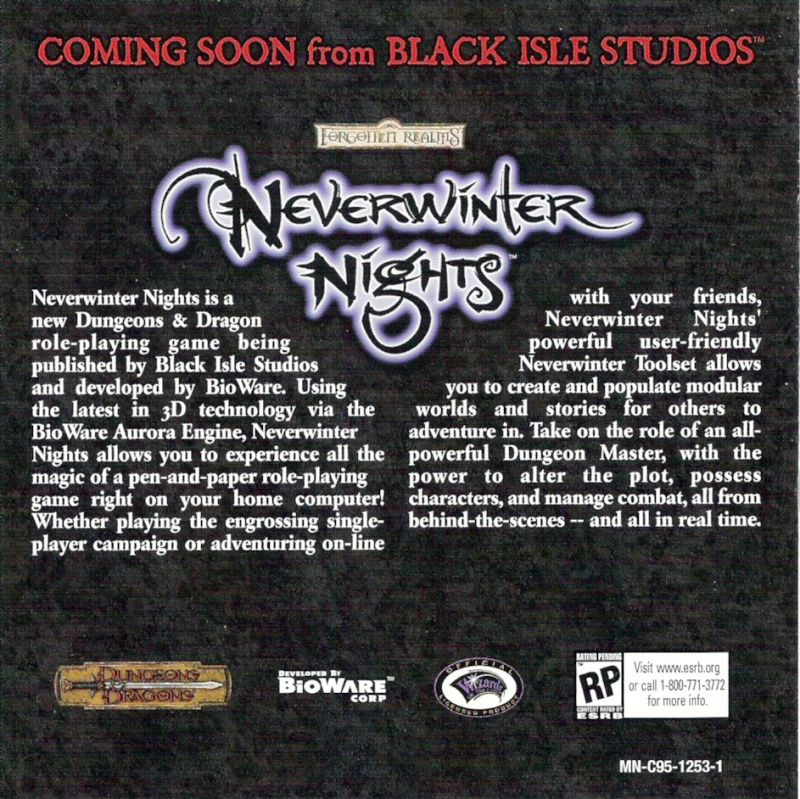 Icewind Dale: Heart of Winter Windows Other Jewel Case - Left Inlay
