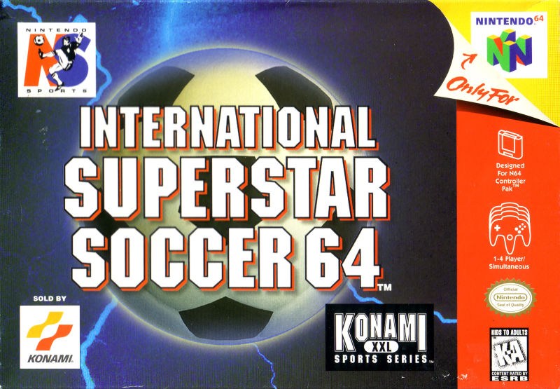 International Superstar Soccer 64 Nintendo 64 Front Cover