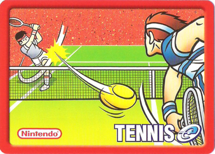 Tennis Game Boy Advance Media e-Card Back, Same for cards 1-5