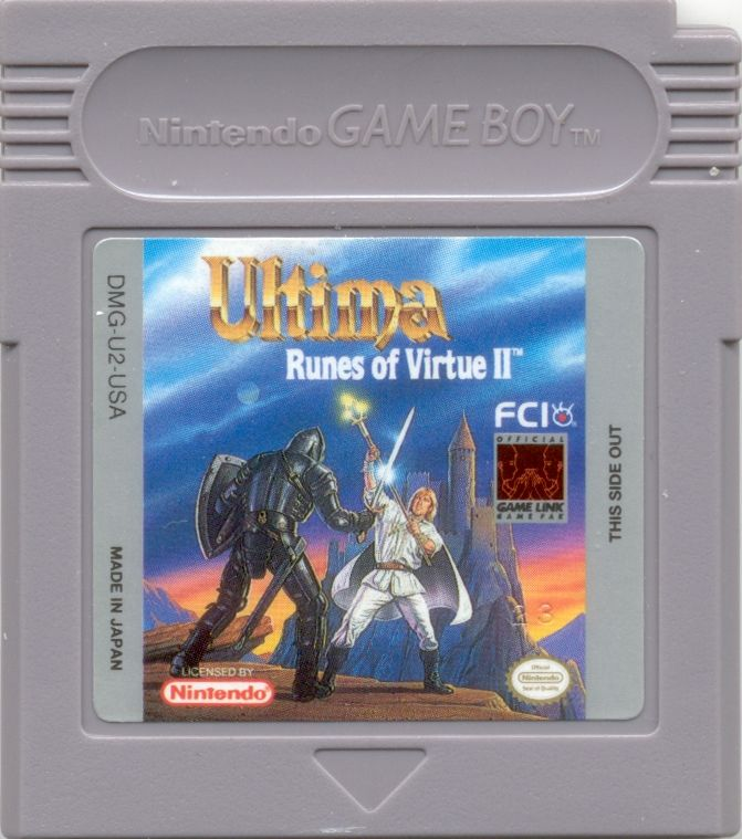 Ultima: Runes of Virtue II Game Boy Media