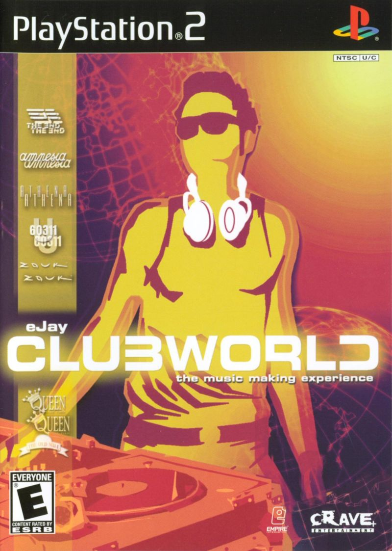 eJay ClubWorld PlayStation 2 Front Cover