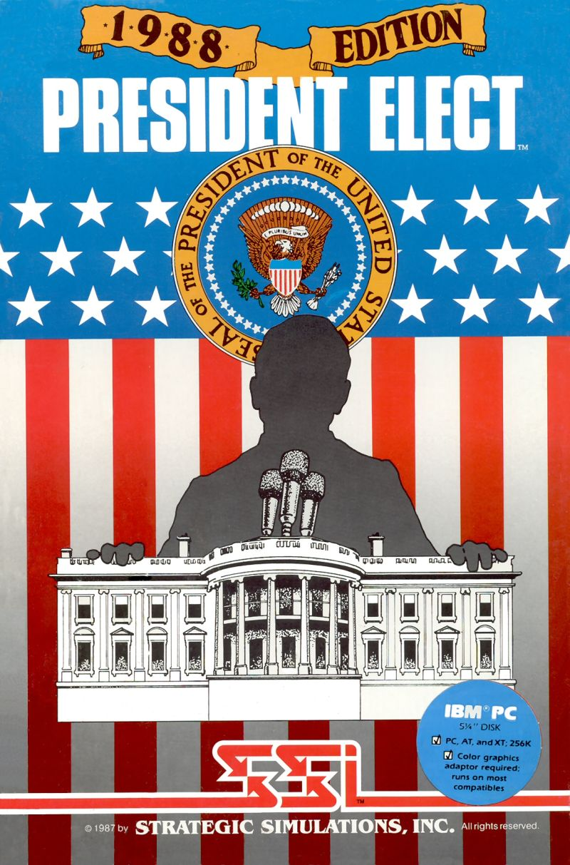 President Elect: 1988 Edition DOS Front Cover