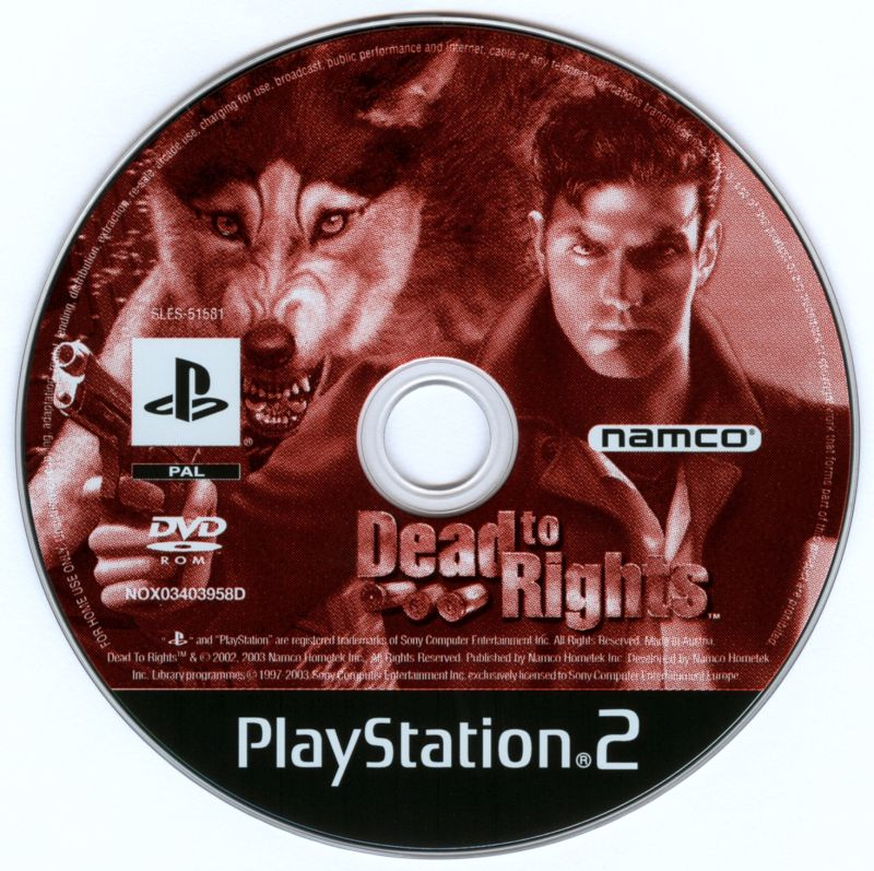 Dead to Rights PlayStation 2 Media