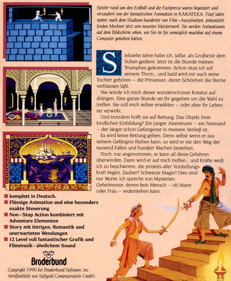 Prince of Persia 1 - Germany - Back cover