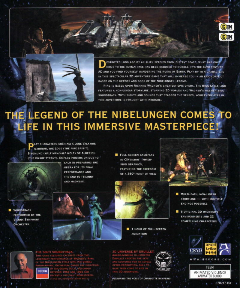 Ring: The Legend of the Nibelungen Windows Back Cover