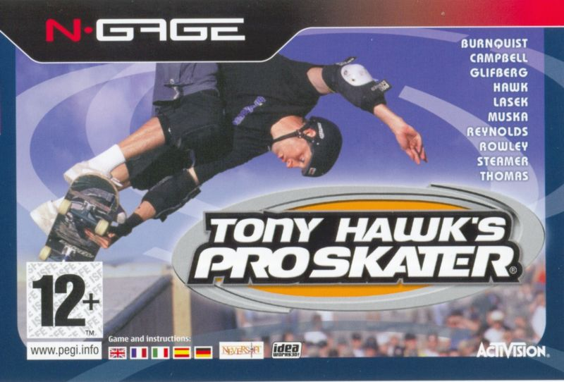 Tony Hawk's Pro Skater N-Gage Front Cover