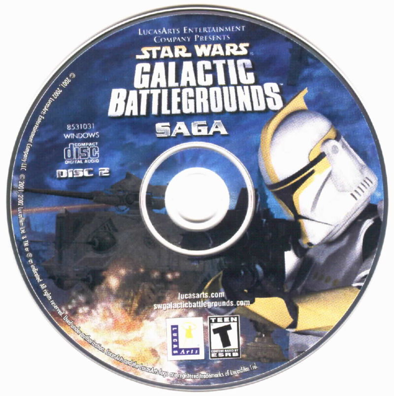Star Wars: Galactic Battlegrounds - Saga Windows Media Disc 2/ 2