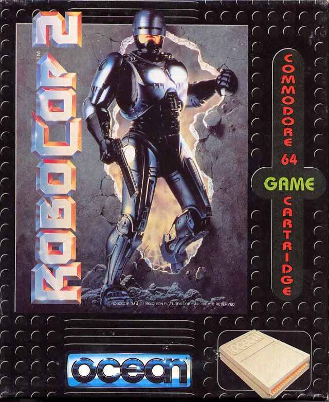 RoboCop 2 Commodore 64 Front Cover