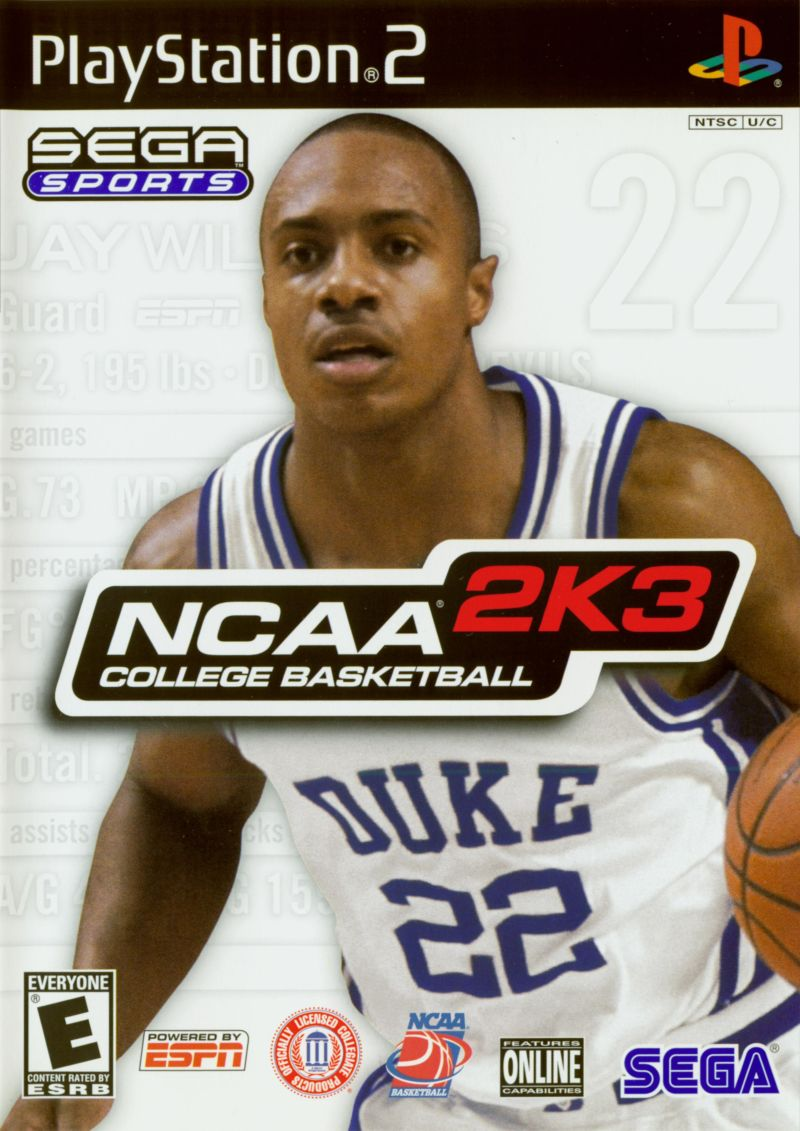 NCAA College Basketball 2K3 PlayStation 2 Front Cover