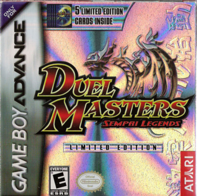 Duel Masters Sempai Legends Game Boy Advance Front Cover