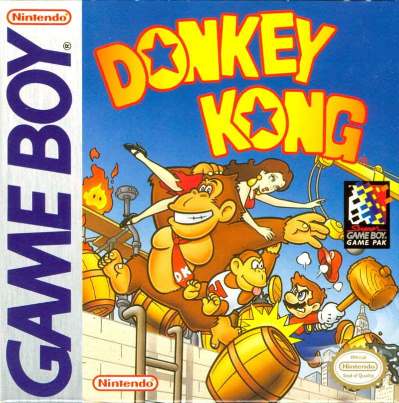 Donkey Kong Game Boy Front Cover