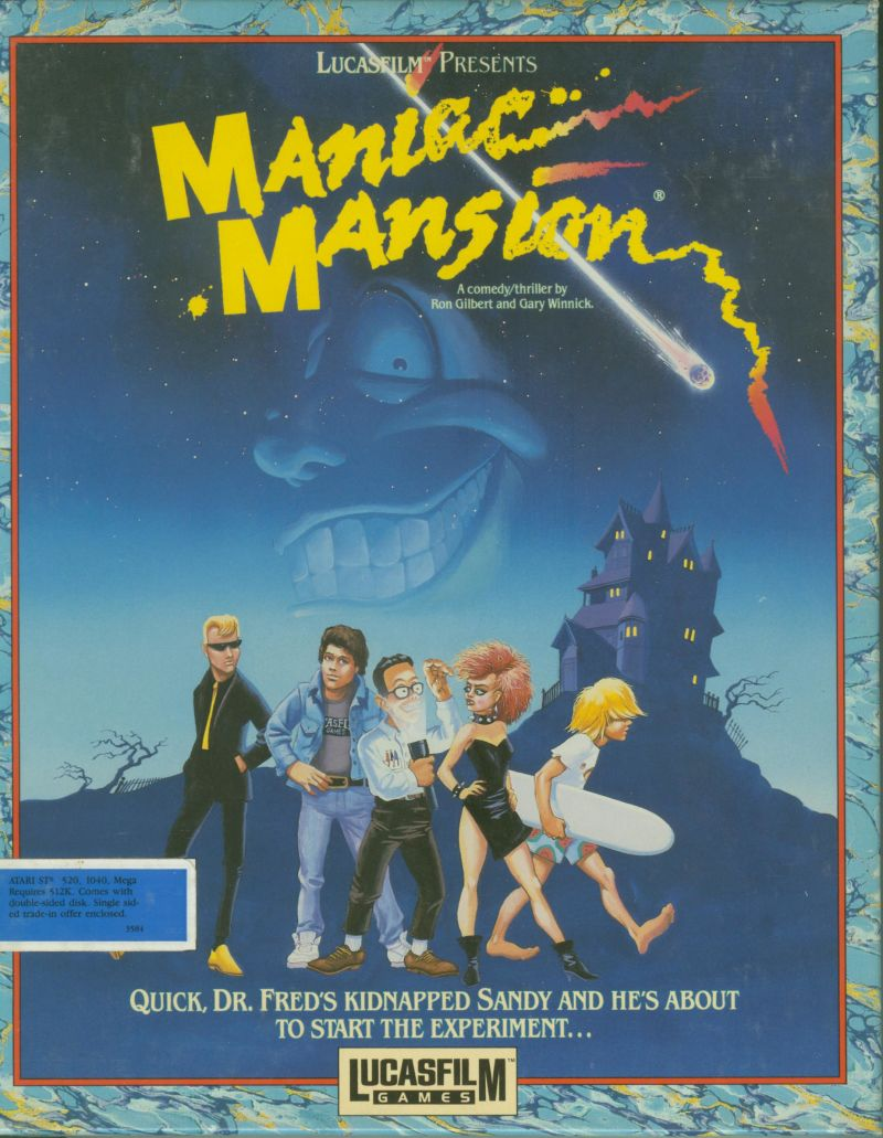 Maniac Mansion Atari ST Front Cover