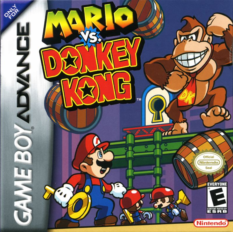 Mario vs. Donkey Kong Game Boy Advance Front Cover