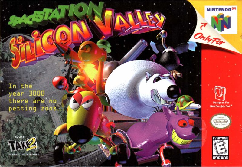 Space Station Silicon Valley Nintendo 64 Front Cover
