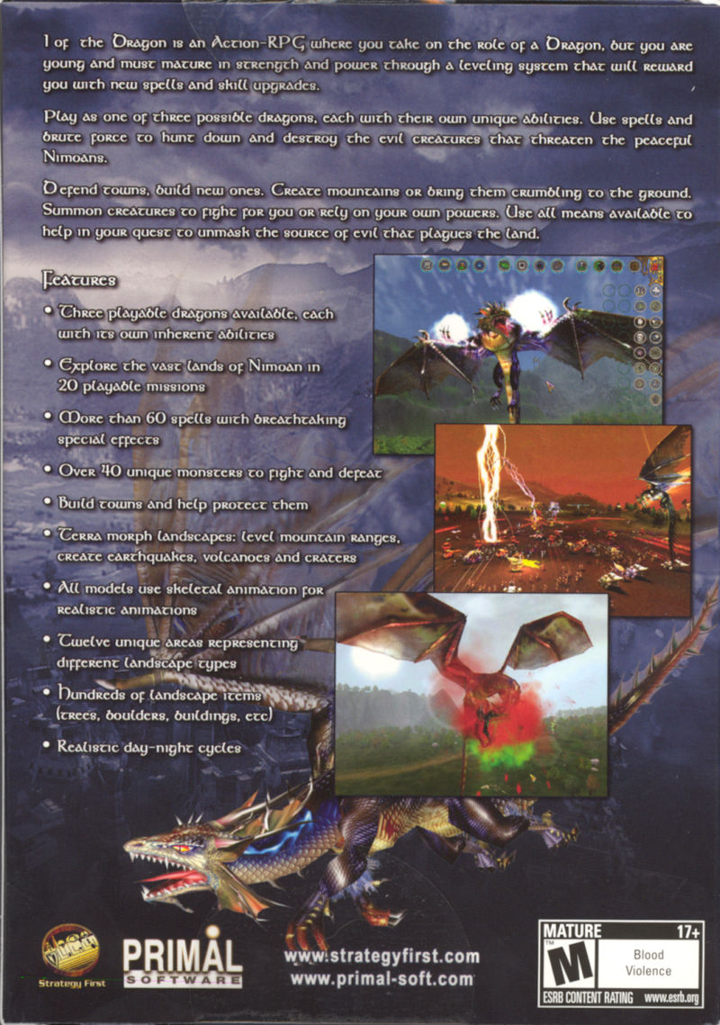 I of the Dragon Windows Back Cover