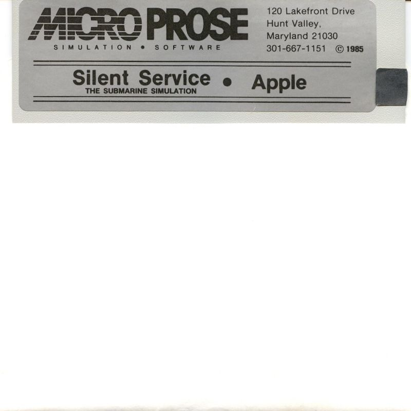 Silent Service Apple II Media
