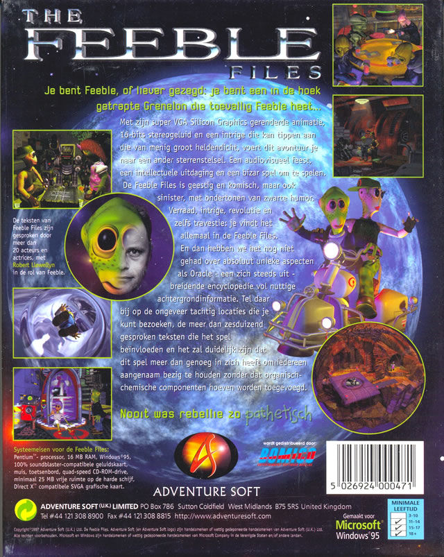 The Feeble Files Windows Back Cover