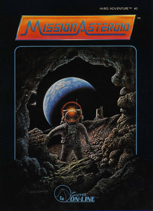 Hi-Res Adventure #0: Mission Asteroid Apple II Front Cover