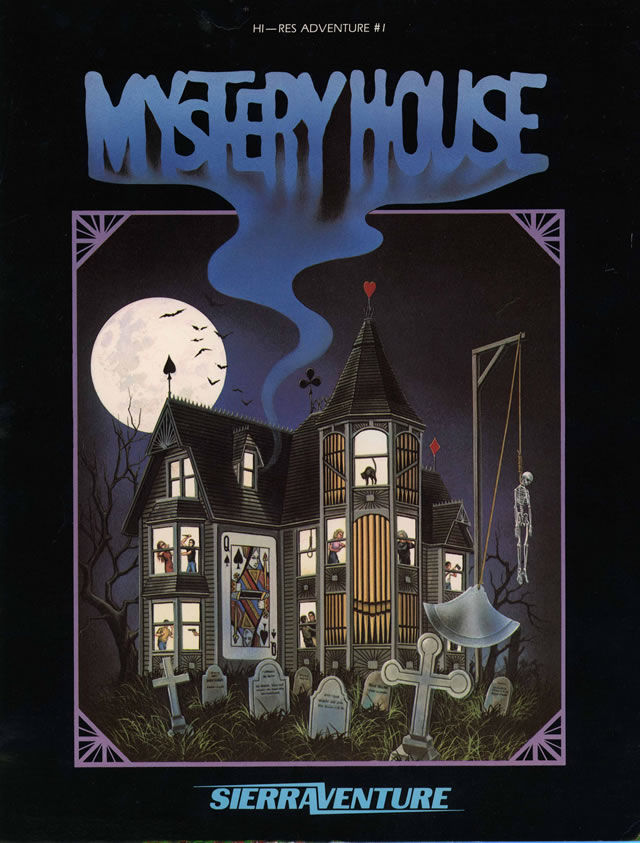 Hi-Res Adventure #1: Mystery House Apple II Front Cover