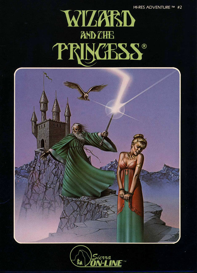 Hi-Res Adventure #2: The Wizard and the Princess Apple II Front Cover