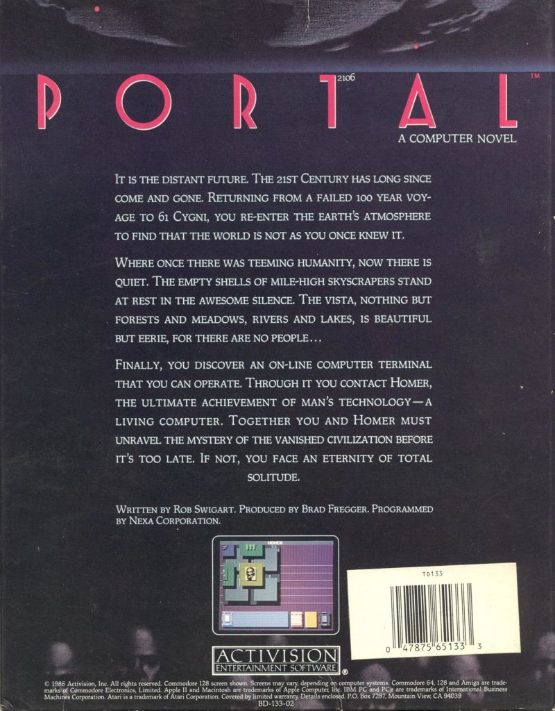 Portal Apple II Back Cover