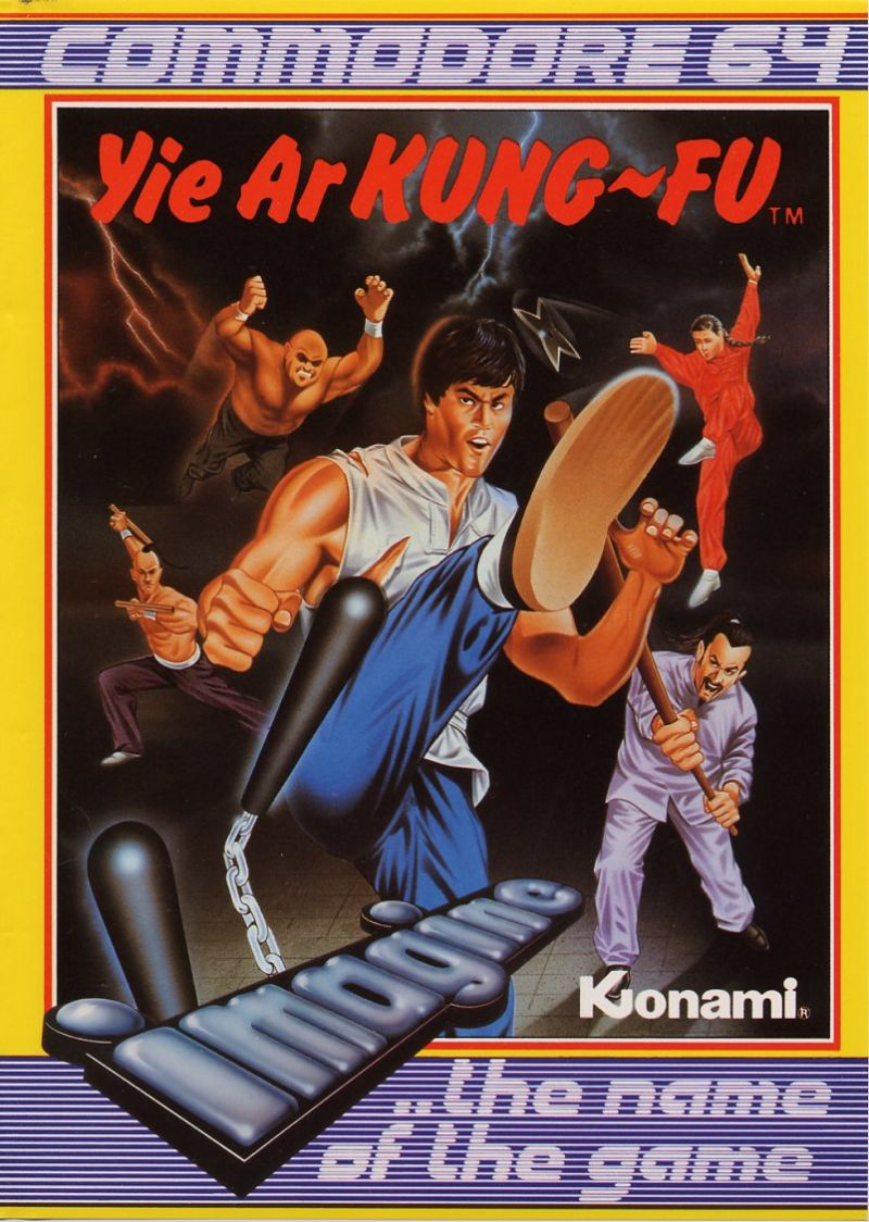 Yie Ar Kung-Fu Commodore 64 Front Cover
