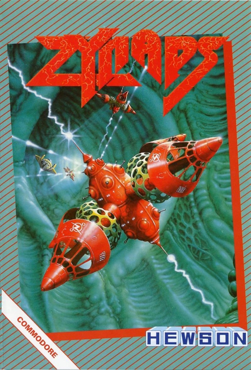 Zynaps Commodore 64 Front Cover