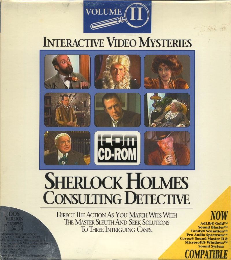 Sherlock Holmes Consulting Detective: Volume II DOS Front Cover