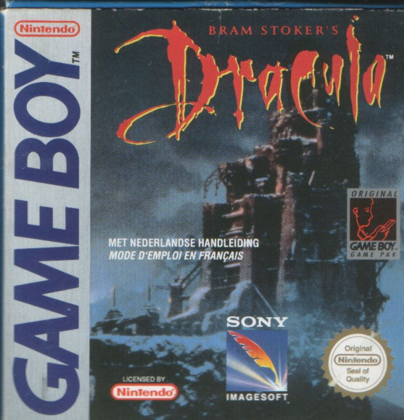 Bram Stoker's Dracula Game Boy Front Cover