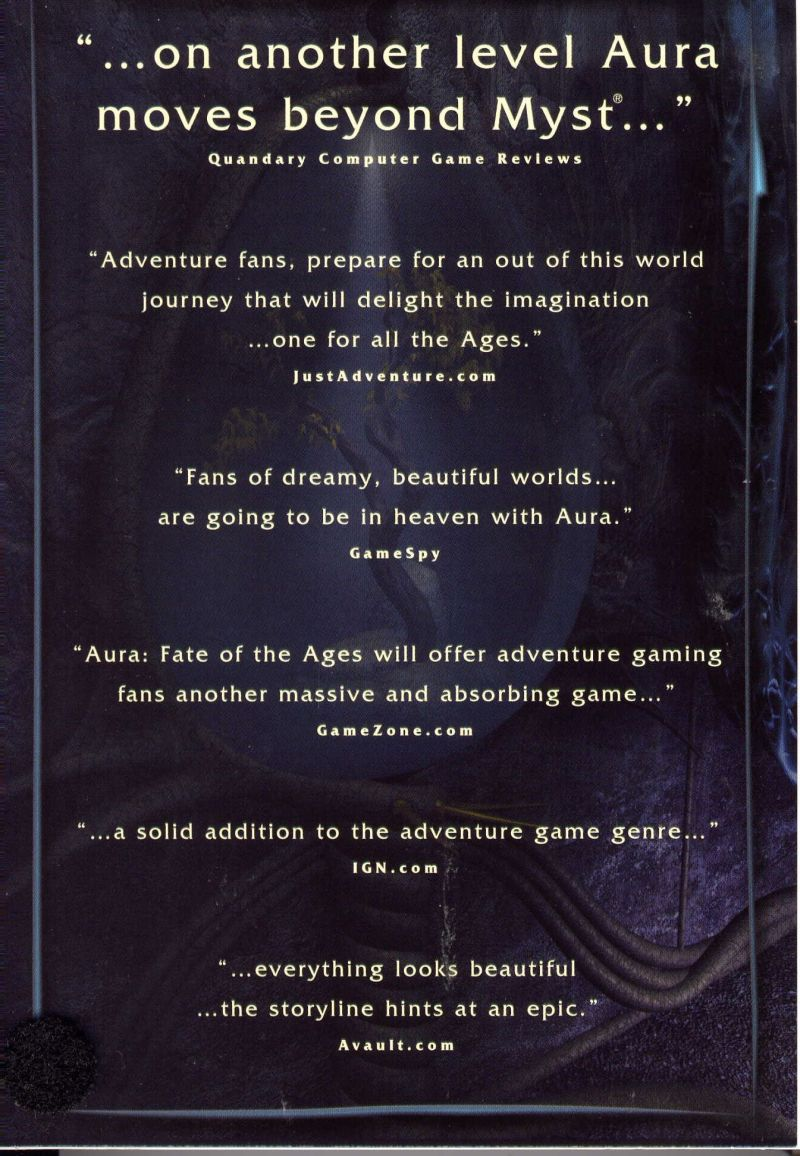 Aura: Fate of the Ages Windows Inside Cover Left Flap