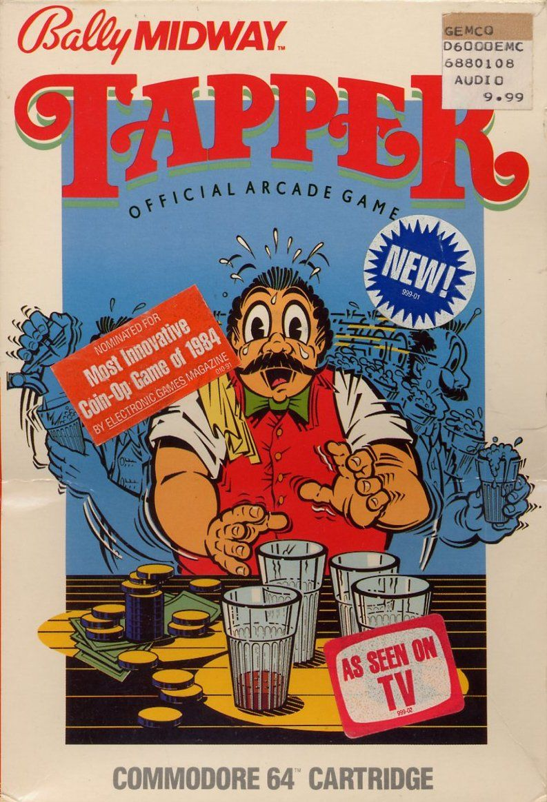 Tapper Commodore 64 Front Cover